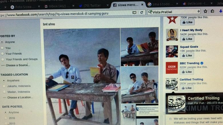 Foto Viral Siswa SMA Merokok di Samping Guru, Ternyata Begini Situasinya