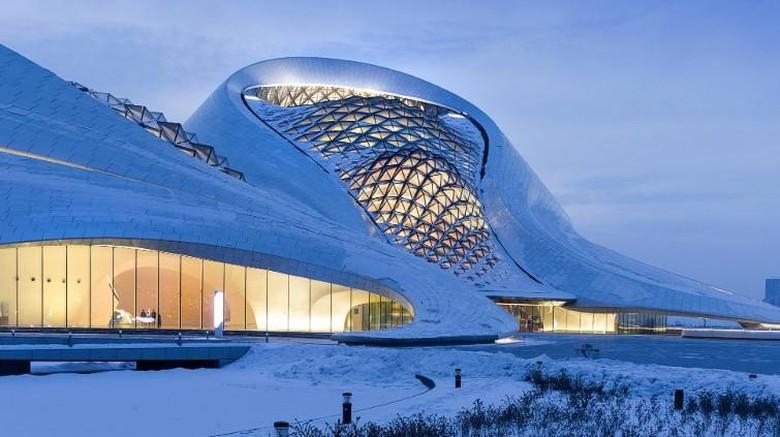 Harbin Opera House yang futuristik (Iwan Baan/CNN)
