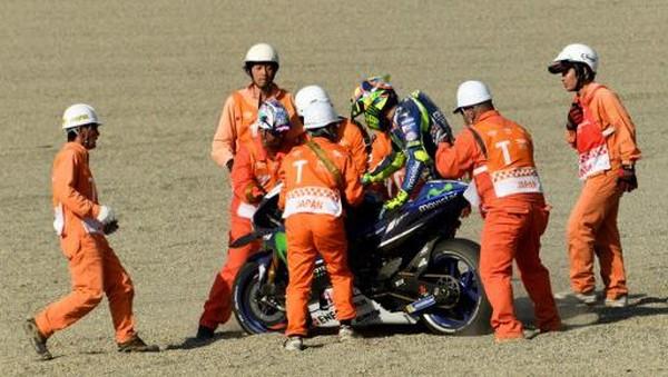 Ini Kata Rossi soal Insidennya yang Muluskan Langkah Marquez Jadi Kampiun