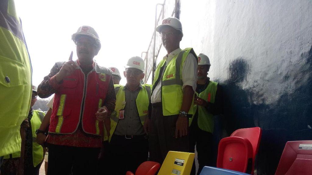 Tinjau Renovasi GBK, Djarot: Pembangunan Tak Boleh Terbengkalai