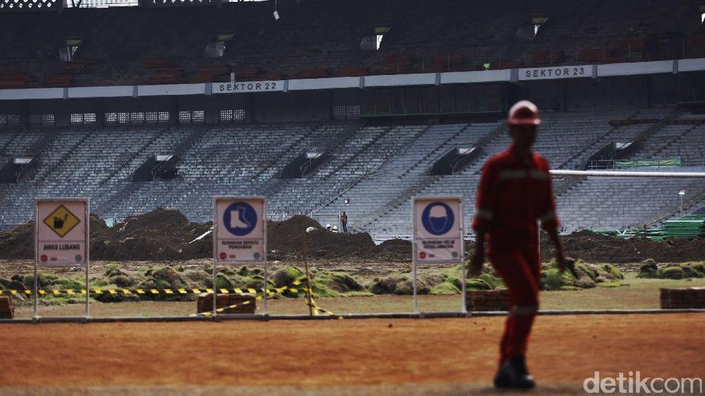 Proses Renovasi Stadion GBK dari Lensa Mata Langit