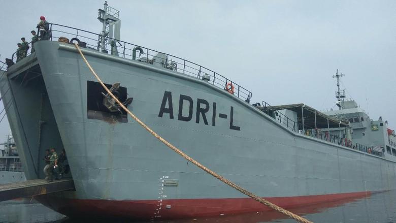 Perkenalkan Kapal ADRI-L Milik TNI AD, Spesialis Pengangkut Tank Leopard