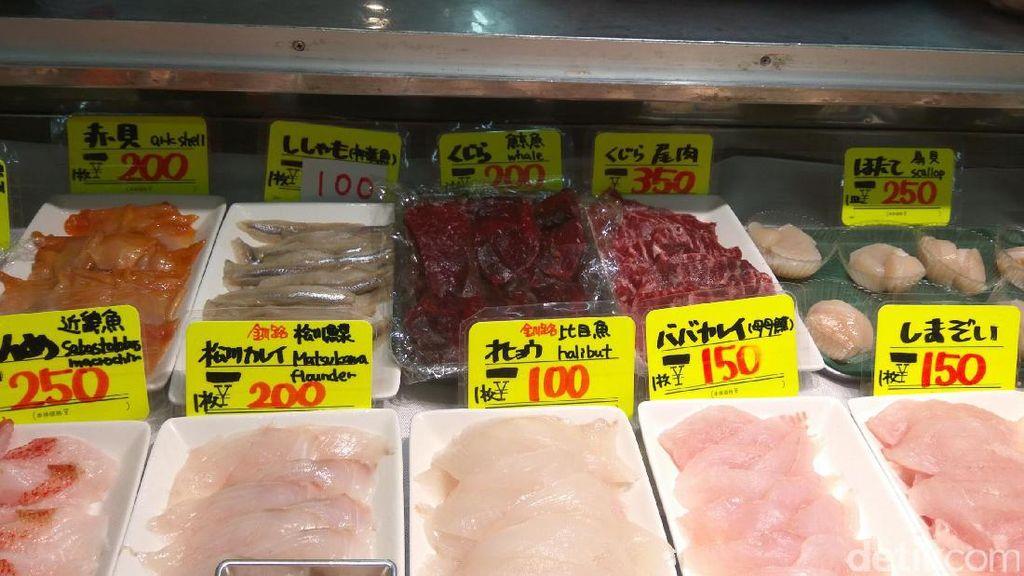 Berburu Sashimi & Daging Paus Sperma di Pasar Washo, Hokkaido