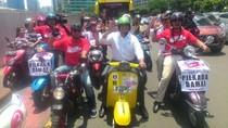 Alasan Anies Baswedan Naik Vespa di Jl MH Thamrin Saat Pawai Kampanye