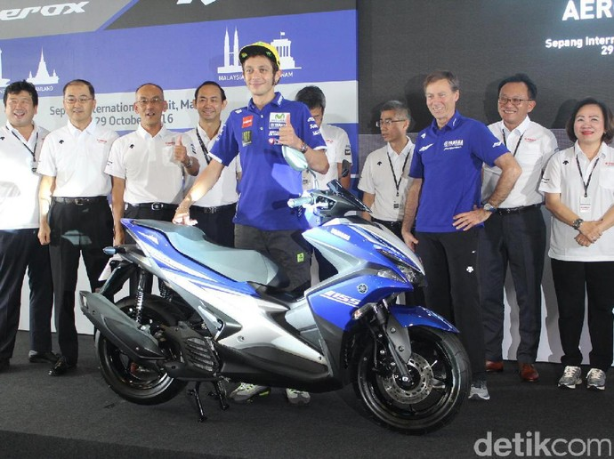 Valentino Rossi Luncurkan Yamaha Aerox