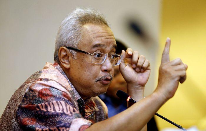 Kuasa hukum Semen Indonesia Mahendra Datta menggelar jumpa pers di Jakarta, Selasa (15/11/2016).