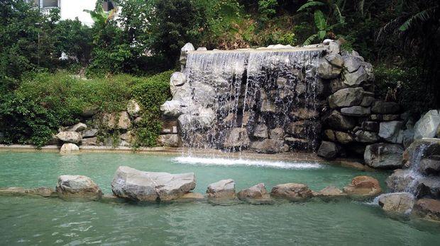 Kolam pemandian di Da Keng Leisure Farm (Wahyu/detikTravel)