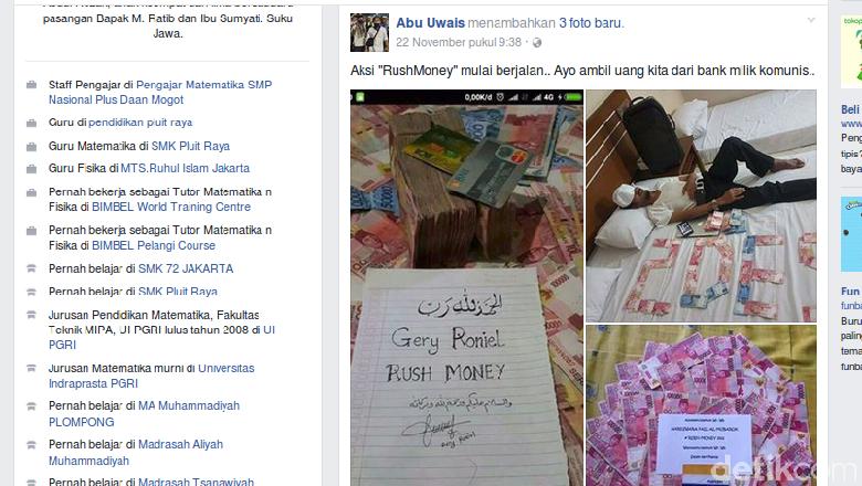 Bareskrim: Tersangka Rush Money Pamerkan Uang SPP Siswa di Akun Faceboknya