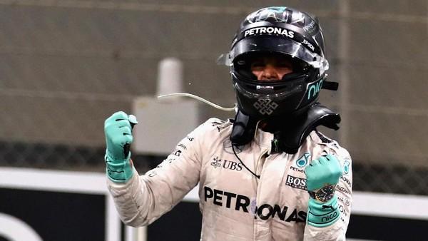 Nico, Rosberg Kedua Sebagai Juara Dunia F1