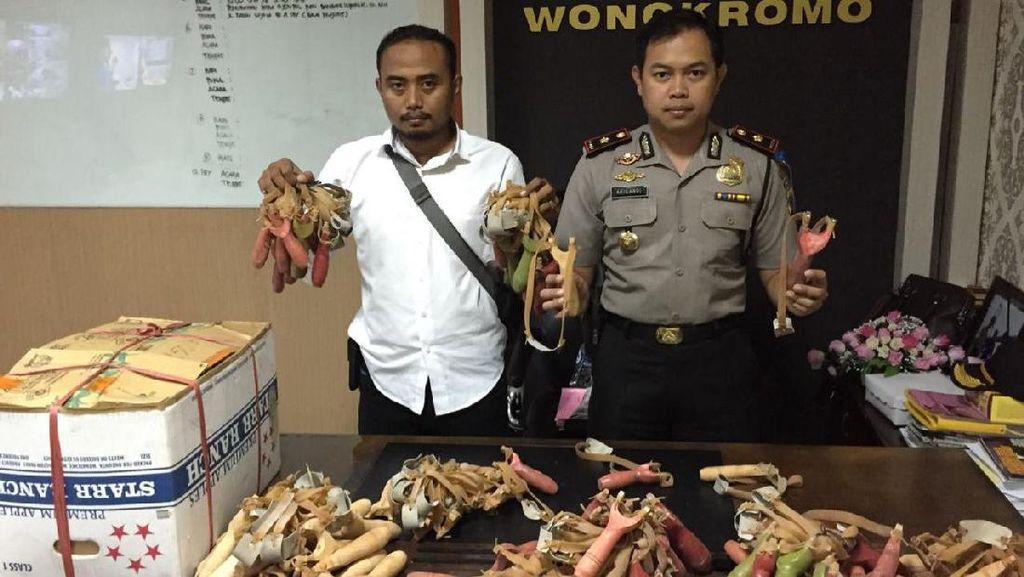 1.000 Katapel Akan Dikirim ke Maros Diamankan Polisi di Surabaya