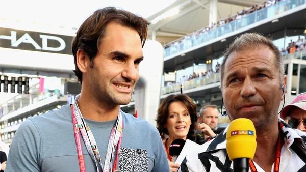 Debut Roger Federer <I>Nonton</I> Langsung Balapan F1