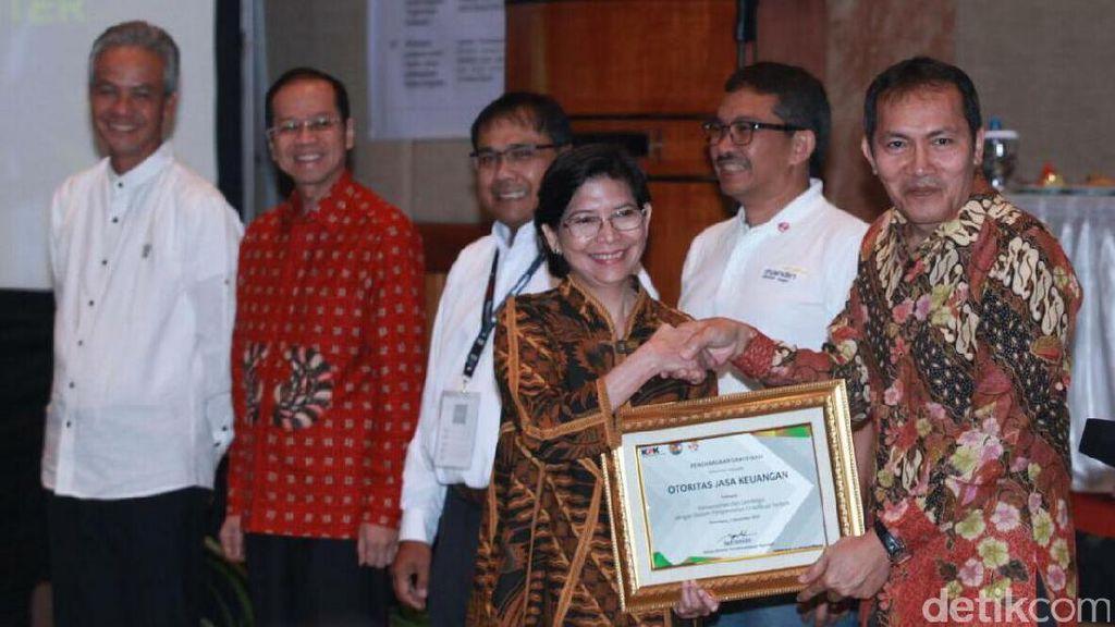 OJK Raih Penghargaan Pengendalian Gratifikasi Terbaik dari KPK