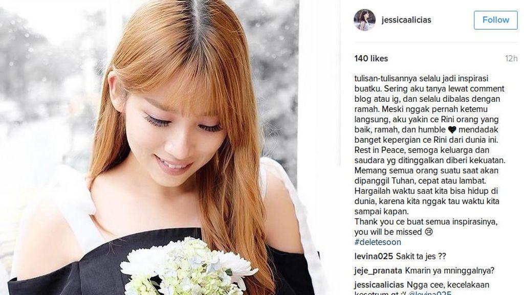 Blogger Cantik Rini Cesillia Tewas, Ini Ungkapan Duka Para Blogger di Instagram