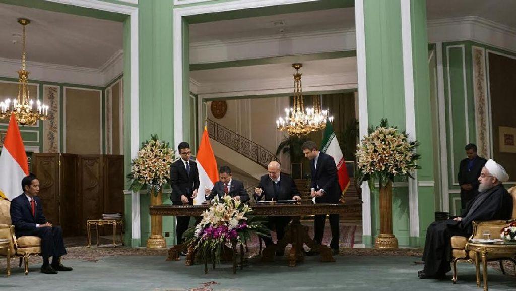 Ke Iran, Jokowi Sepakati Impor LPG Hingga Bangun Pembangkit Listrik