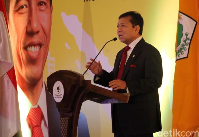 Setya Novanto Buka Diskusi Indonesia Economic Outlook 2017