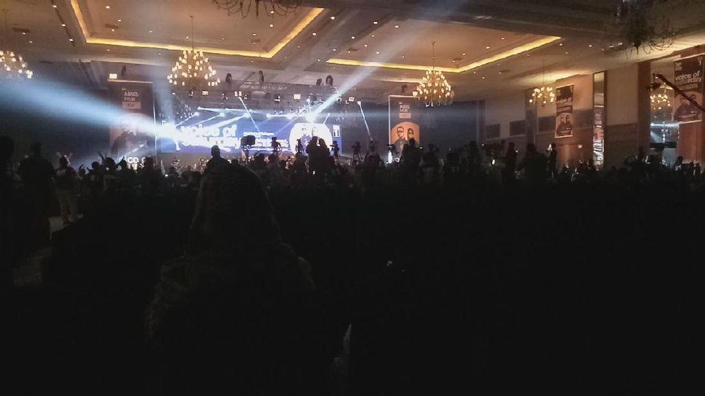 Ala DWP, Music EDM Goyang Panggung Pidato Politik Agus Yudhoyono