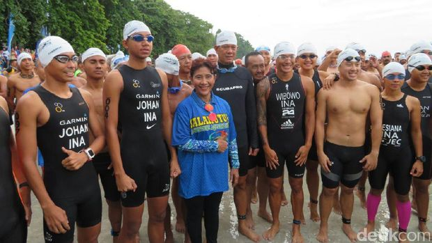 Para peserta Aquathlon Salahutu (Fadhil/detikTravel)