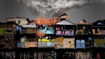 Korsleting Listrik, 2 Rumah Semipermanen Terbakar di Koja