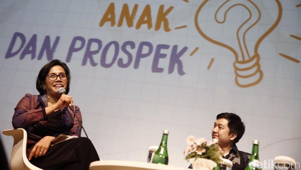 Sri Mulyani dan CEO Tokopedia di dpreneur