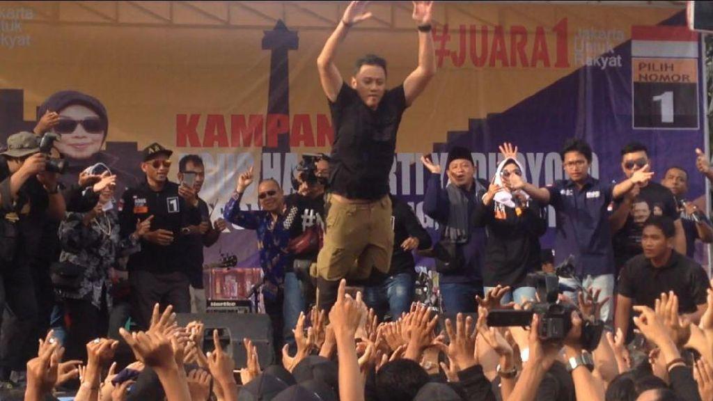 Kampanye di Pondok Pinang, Agus Yudhoyono Lompat Moshing Lagi