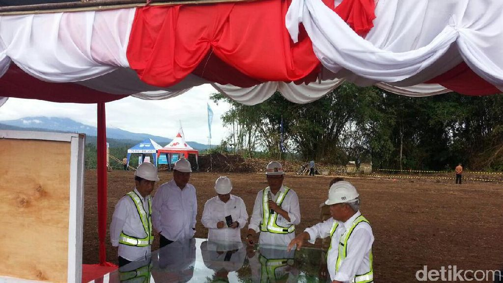 Jokowi Tinjau Pembangunan Bendungan Kuwil di Sulawesi Utara