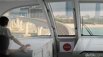 Pemandangan Naik Monorail di Pulau Buatan Dubai
