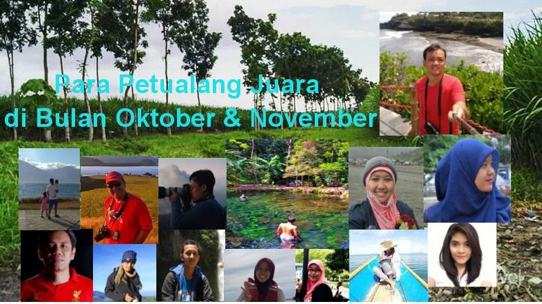 Foto: Pemenang dTraveler of The Month Bulan Oktober dan November (Wahyu/detikTravel)
