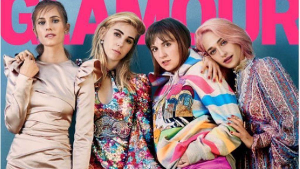 Lena Dunham Pamer Paha Berselulit di Majalah Glamour