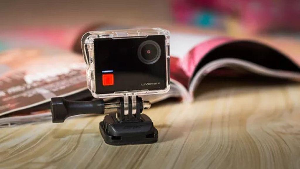 Liveman C1 merupakan action cam yang bisa merekam video 4K. Fitur serupa juga ditawarkan GoPro lewat Hero5 dan action cam Yi yang anyar. Foto: istimewa