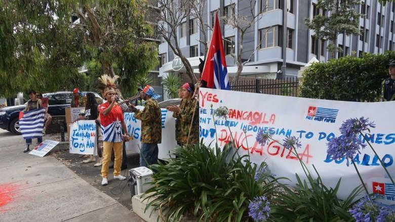 Unjuk Rasa di KJRI Melbourne, Satu Orang Ditahan