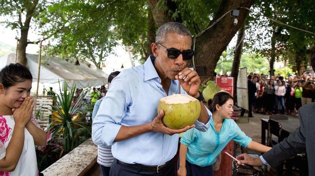 Momen Menarik Saat-saat Terakhir Presiden Obama