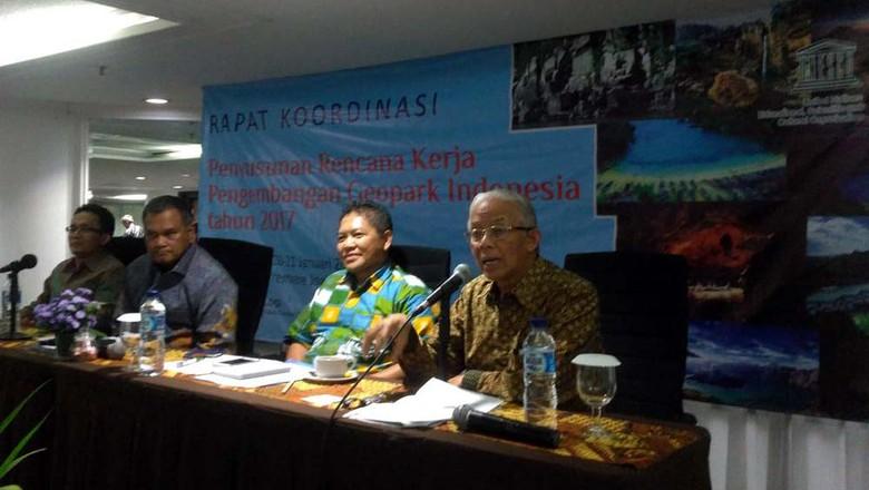 Rapat Koordinasi Penyusunan Rencana Kerja Pengembangan Geopark Indonesia (Bagus/detikTravel)