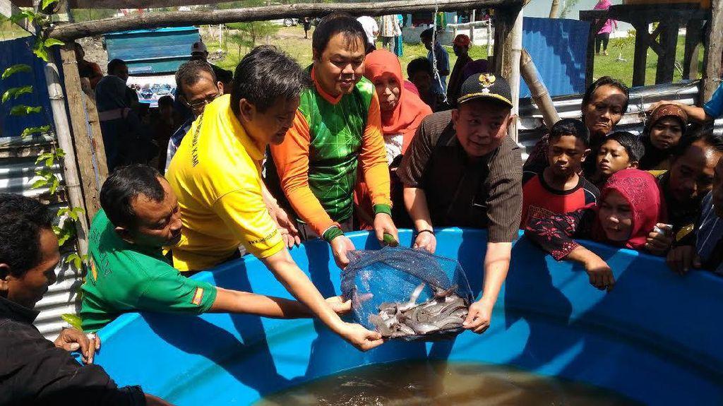 Ajak Makan Ikan, Susi Beri Bantuan Benih Lele ke Pesantren