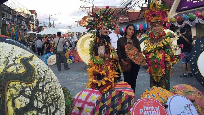 Keseruan Festival Payung Bo Sang di Thailand (Andi Anissa/detikTravel)