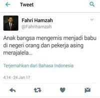 Cuitan Babu Fahri Hamzah Bikin Heboh