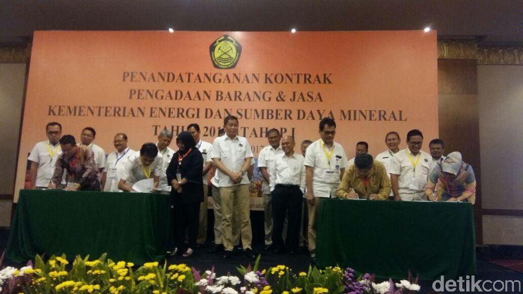 ESDM Teken 134 Paket Pengadaan Barang dan Jasa Rp 284 Miliar