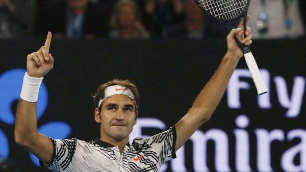 Federer ke Final Usai Duel Lima Set Lawan Wawrinka