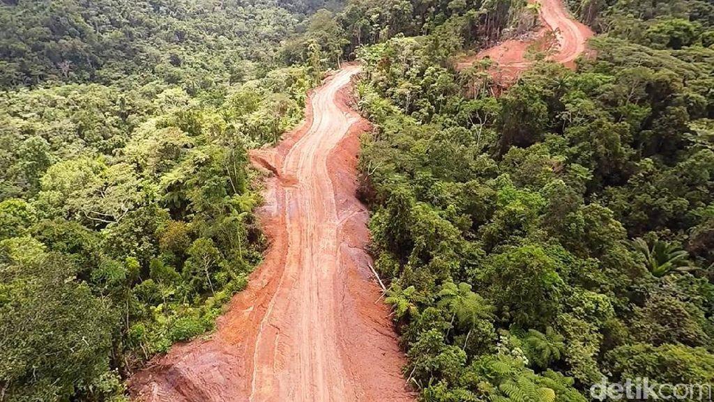 Tembus Gunung dan Sungai, Ini Penampakan Jalan Trans Papua
