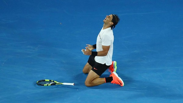 Nadal ke Final Usai Menangi Laga Sengit Lawan Dimitrov