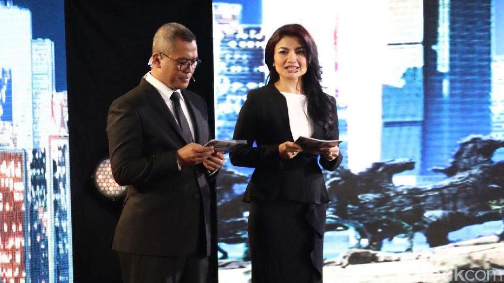 Jadi Moderator Debat Pilgub Jakarta, Tina Talisa Juga Cantik Berlipstik Pink