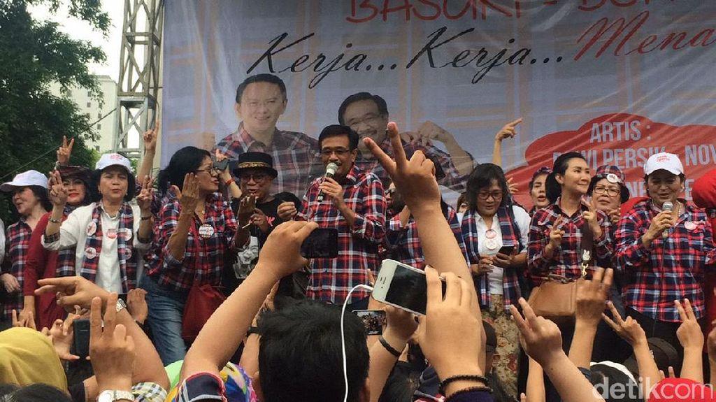 Hadiri Kampanye Rakyat, Djarot Dangdutan Bareng Warga