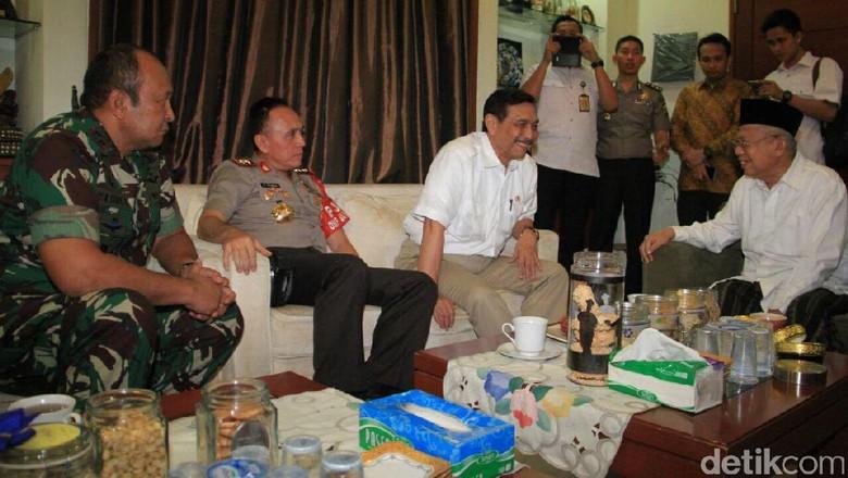 Luhut dan Kapolda Metro Bertemu Maruf Amin