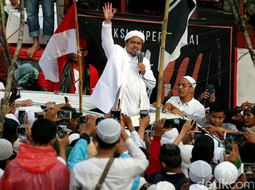 Elektabilitas Capres Habib Rizieq Masih Nol Koma
