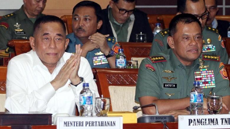 Menhan, Panglima TNI dan DPR Bahas Program Kerja