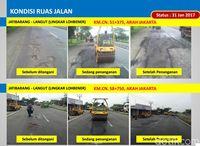 Perbaikan jalan nasional di Jabar