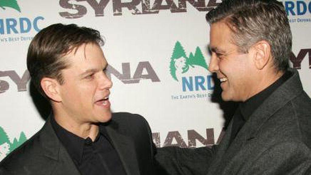 Matt Damon Ingin Menangis Saat Tahu George Clooney Akan Jadi Ayah