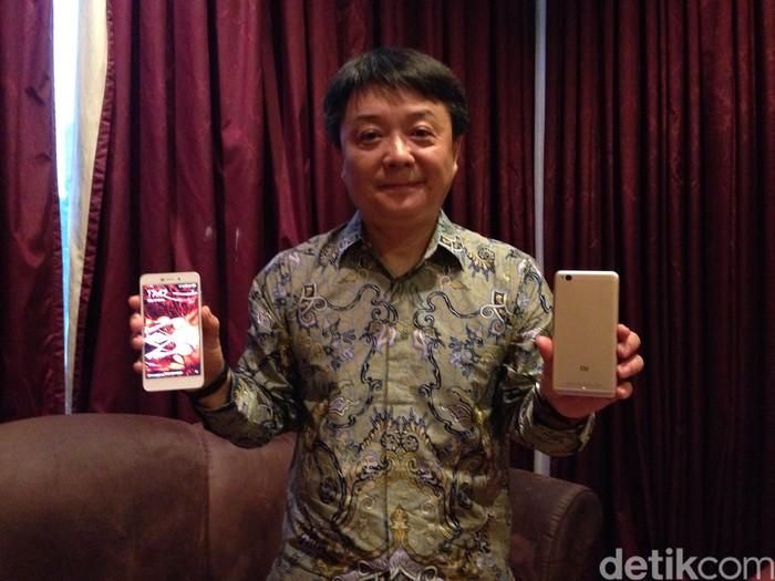 Senior Vice President Xiaomi, Xiang Wang (detikINET/Agus Tri Haryanto)