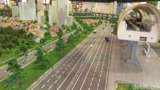 Maket Proyek LRT Jabodebek.