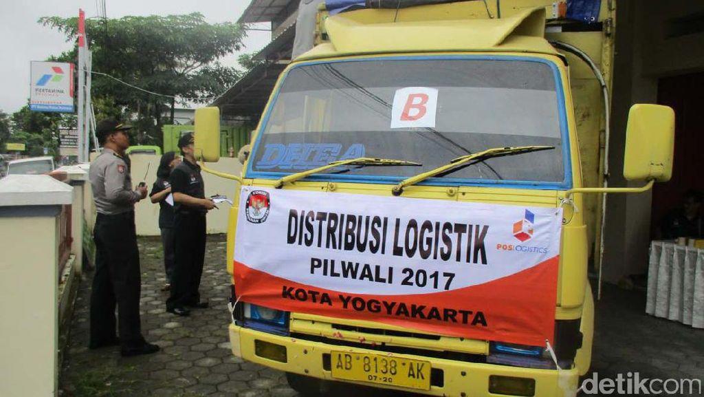 Logistik KPU Kota Yogyakarta Didistribusikan ke PPK