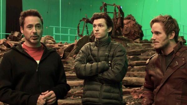 Spider-Man dan Star-Lord di Lokasi Syuting Avengers: Infinity War